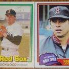 Lot of 2 MLB Skip Lockwood Card Topps Donruss Red Sox