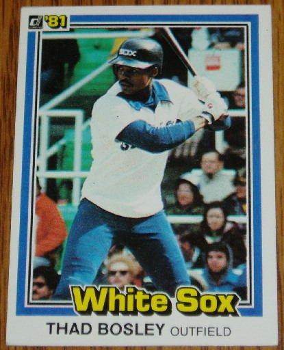 1981 MLB Donruss Thad Bosley Card #162 White Sox