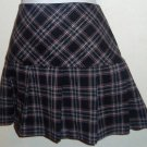 Star City Junior's  Size 7 Black Red Plaid Mini Skirt Pleated