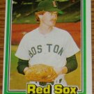 1981 MLB Donruss Win Remmerswaal Card #98 Red Sox