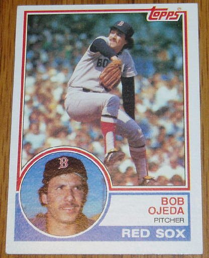 1983 MLB Topps Bob Ojeda Card #654 Boston Red Sox
