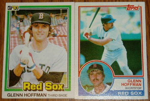 Lot of 2 Glenn Hoffman Red Sox Cards Donruss & Topps MLB