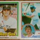 Lot of 2 Glenn Hoffman Red Sox Cards Donruss & Topps MLB