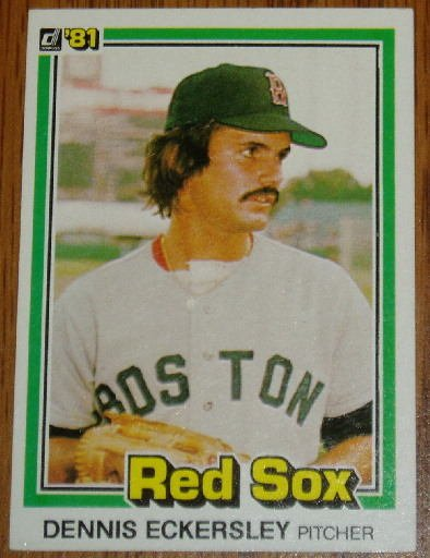 1981 MLB Donruss Dennis Eckersley Card #96 Red Sox