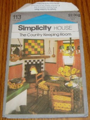 Simplicity Country Keeping Room Home Decor Pattern
