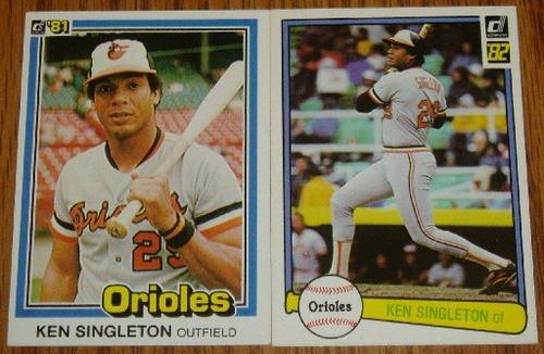 Lot of 2 MLB Donruss Ken Singleton Cards #115 105