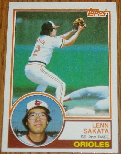 1983 MLB Topps Lenn Sakata Card #319 Baltimore Orioles