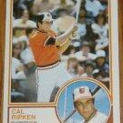 1983 MLB Topps Cal Ripken Card #163 Baltimore Orioles