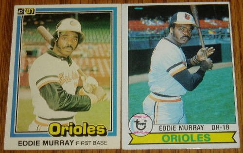 Lot of 2 Eddie Murray MLB Cards Topps 640 Donruss 112