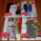 Lot of 4 Butterick See & Sew Now Uncut Patterns Size 6-14