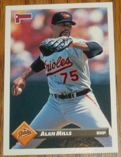 1993 MLB Donruss Series 2 #691 Alan Mills Baltimore Orioles