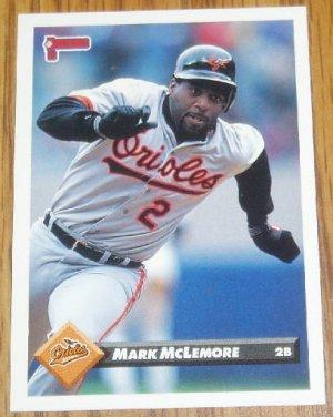 1993 MLB Donruss Series 2 #485 Mark McLemore Orioles