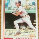 1982 MLB Topps Card #747 John Lowenstein Orioles OF