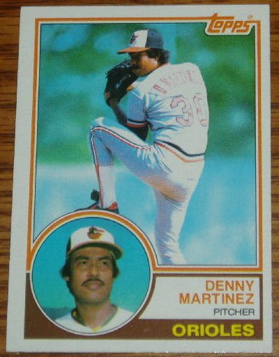 1983 MLB Topps Denny Martinez Card #553 Baltimore Orioles