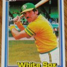 1981 MLB Donruss Jim Essian Card #503 Chicago White Sox