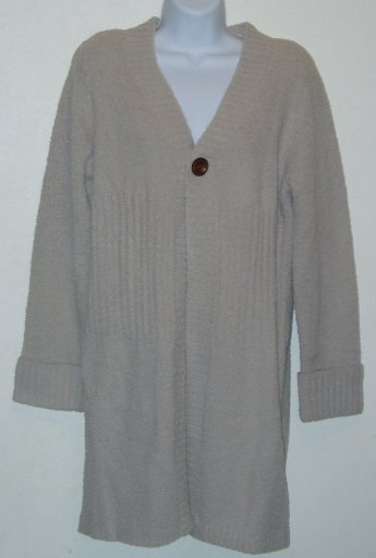 Christipher & Banks Oatmeal Tan Duster Sweater Size M