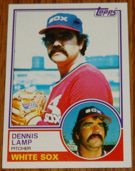 1983 MLB Topps Dennis Lamp Chicago White Sox Card #434