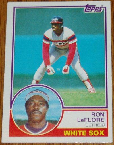 1983 MLB Topps Ron LeFlore Chicago White Sox Card #560