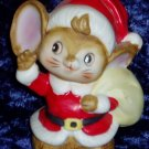 HOMCO Christmas Santa Mouse Figurine Holiday Decor