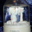1986 Enesco Precious Moments Christmas Snow Globe