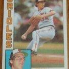1984 MLB Topps Card #140 Storm Davis Baltimore Orioles