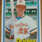 1981 MLB Donruss Rich Dauer Baltimore Orioles Card #232