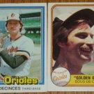 MLB Doug DeCinces Card Lot Fleer Donruss 1981 Orioles