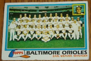 1981 MLB Topps Card #661 Topps Baltimore Orioles Team