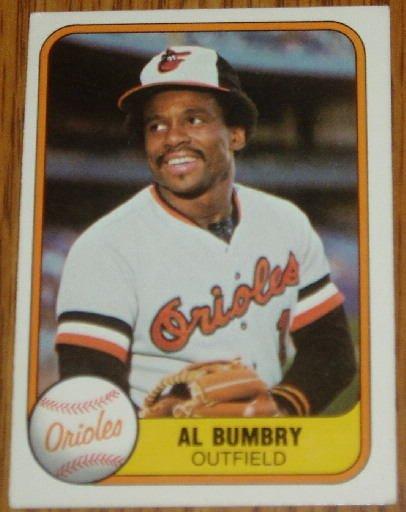 1981 MLB Fleer #172 Al Bumbry Baltimore Orioles Card