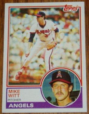 1983 MLB Topps Mike Witt Card # 53 California Angels