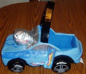NWT Hot Wheels Vinyl Basket Car Shaped Storage Blue
