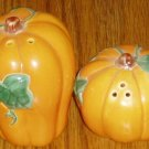 Ceramic  Pumpkin Salt Pepper Shaker Set Fall Halloween