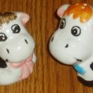 Black White Cow Ceramic Salt Pepper Shaker Set