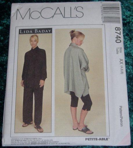 McCall's Lida Baday Shirt Pants Uncut Pattern #8740 Sz 4 6 8