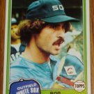 1981 MLB Topps Card #466 Bob Molinaro Chicago White Sox