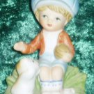 HOMCO #1430 Boy with Ball and Cat Figurine