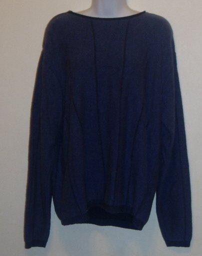 Roundtree & Yorke Men's Size L Blue Wool Blend Sweater
