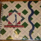 NIP Spiral Bound Golf Journal 100 Pages Green and Tan