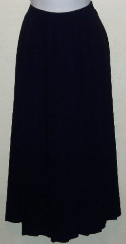 Tan Jay Navy Blue Pleated Career Skirt Size 16