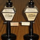 Vintage New Orleans Wooden Lamppost Salt/Pepper Shakers