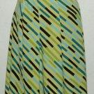 NWT Valerie Stevens Yellow Diagonal Stripe Skirt Size S