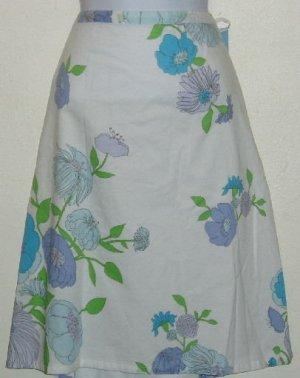 NWT Izod White Floral Skirt Size 18W Blue Purple Green