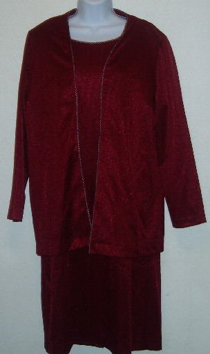 Blair Red Dress and Jacket Set/Outfit Size PM Petite Medium