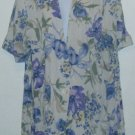 Jessica Scott Purple Floral Jacket/Blazer Short Sleeve Sz. L