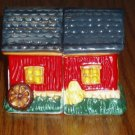 Ceramic Hand Painted Red Barn Salt/Pepper Shaker Set