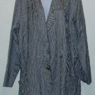 Roaman's Black/White Checked Blazer/Jacket Sz 26/28 2X