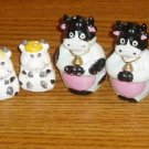 Lot of 4 Cow Salt and Pepper Shaker Sets
