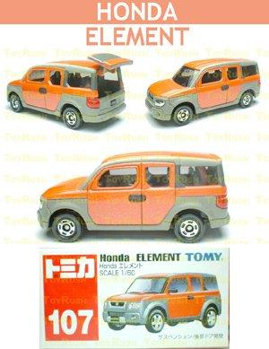 Tomy Tomica Diecast : #107 Honda ELEMENT (Orange)