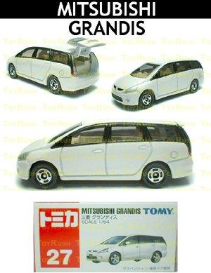 Tomy Tomica Diecast : #27 Mitsubishi GRANDIS (White)