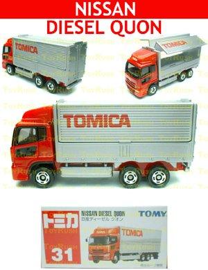 Tomy Tomica Diecast : #31 Nissan Diesel Quon (Red)